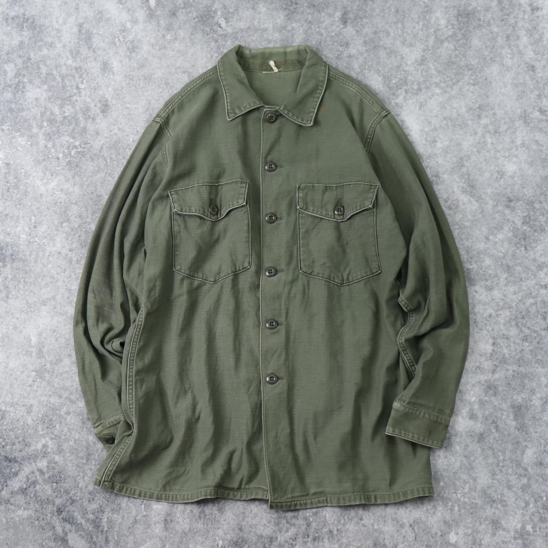 60年代 U.S.ARMY ユーティリティシャツ XL程 ミリタリー 古着 A921