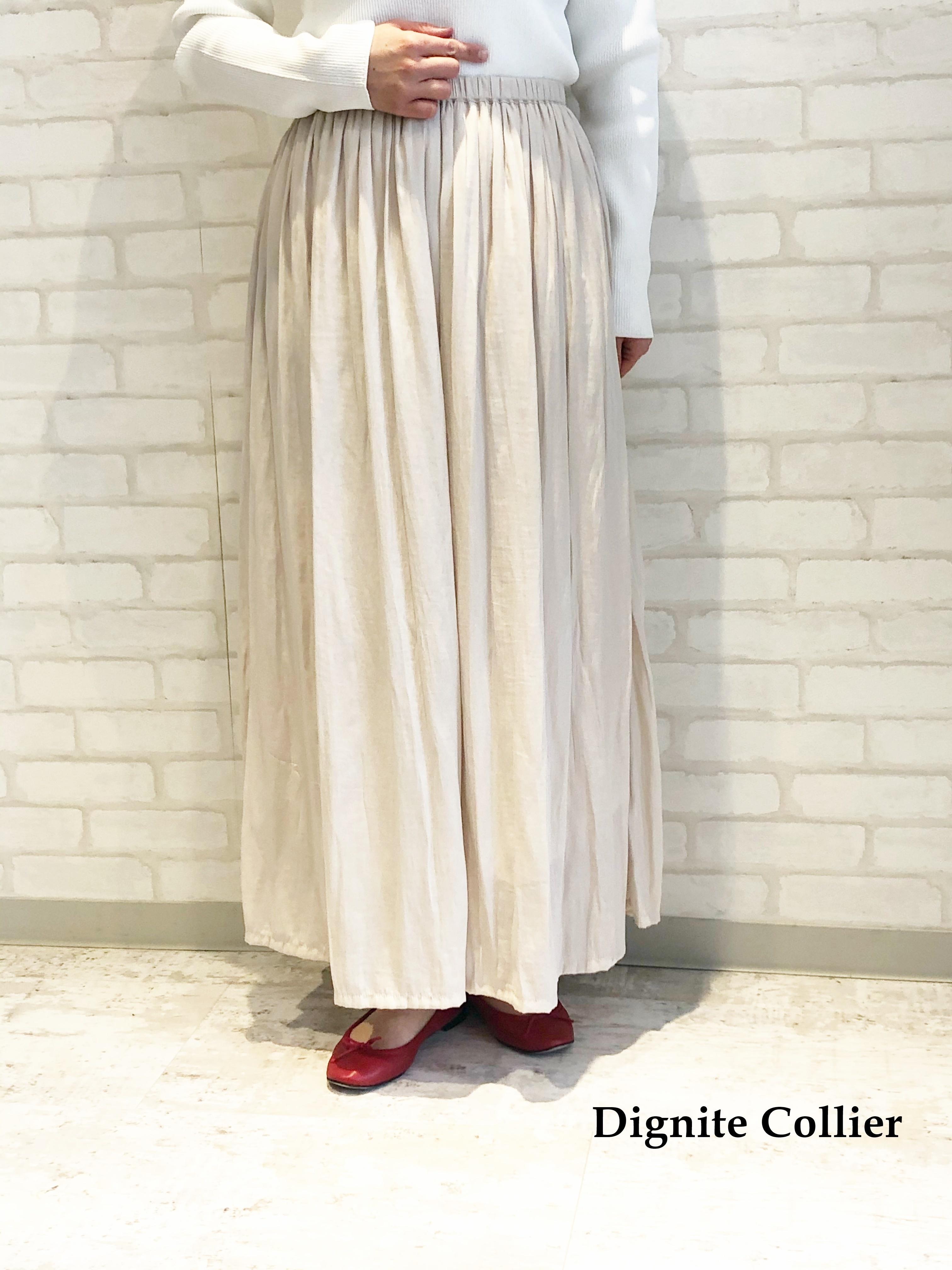 Dignite Collier/ランダムプリーツガウチョパンツ/801013