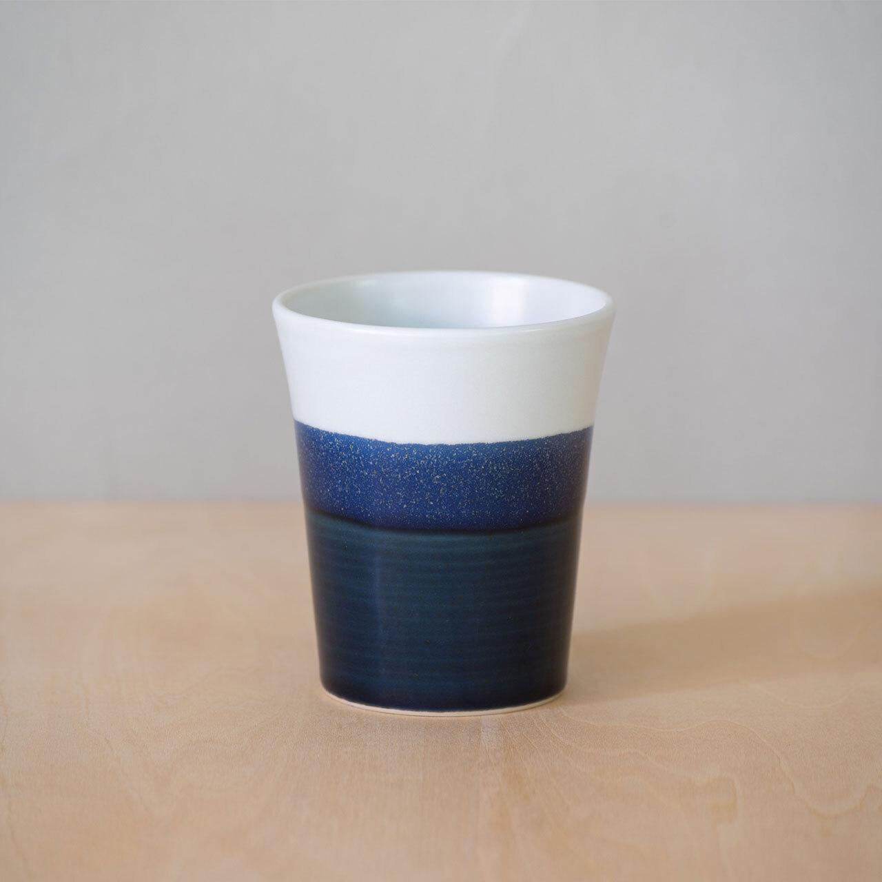藍釉掛分 カップ L