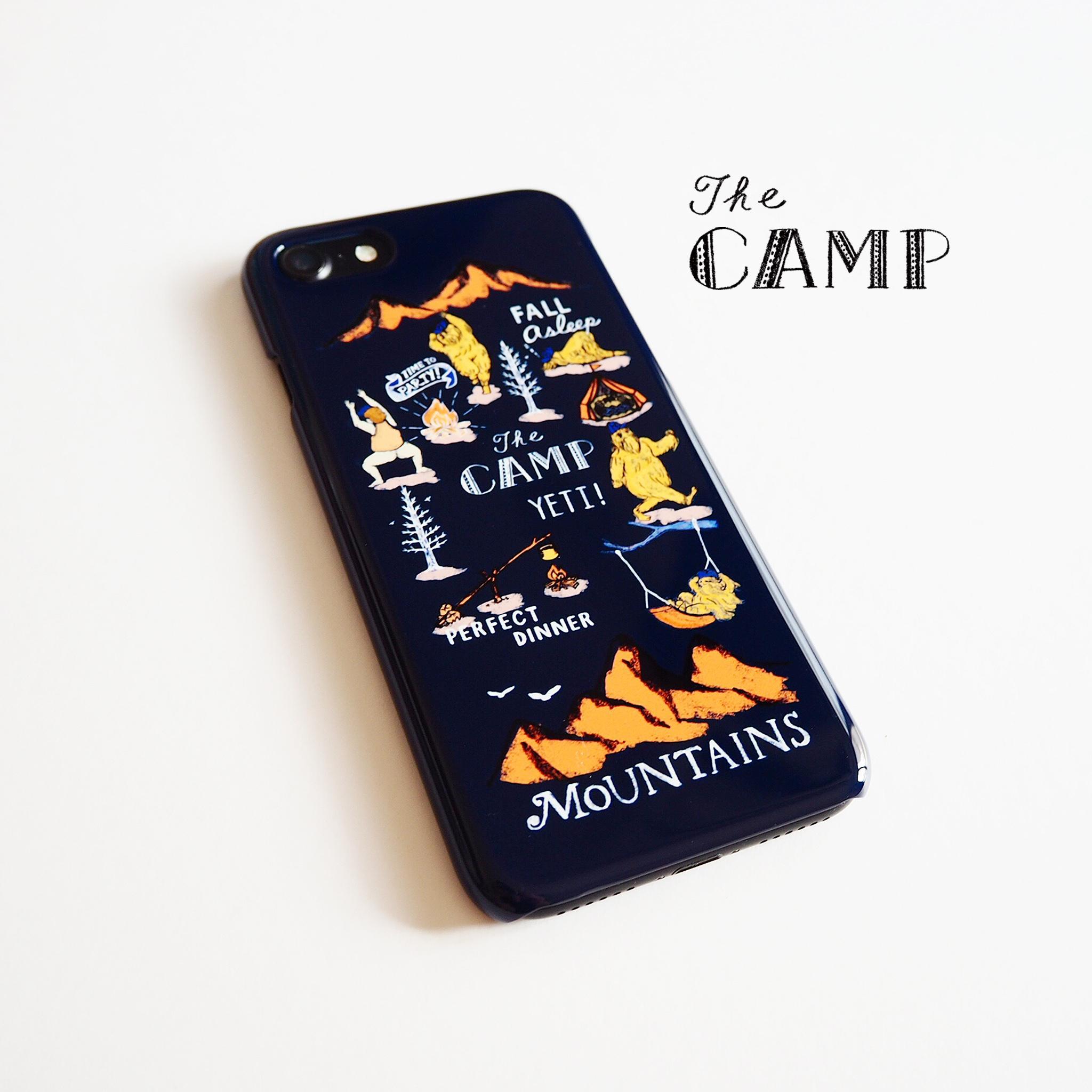 CAMP スマホケース ネイビー