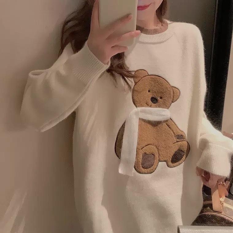 bear knit 2color
