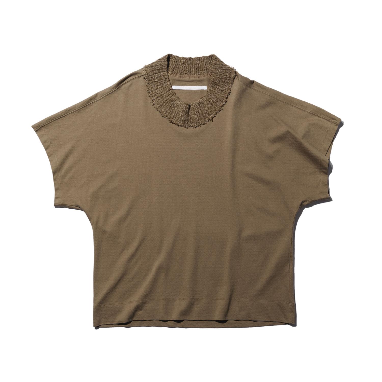737CUM13-SAND / ニットネック Tシャツ