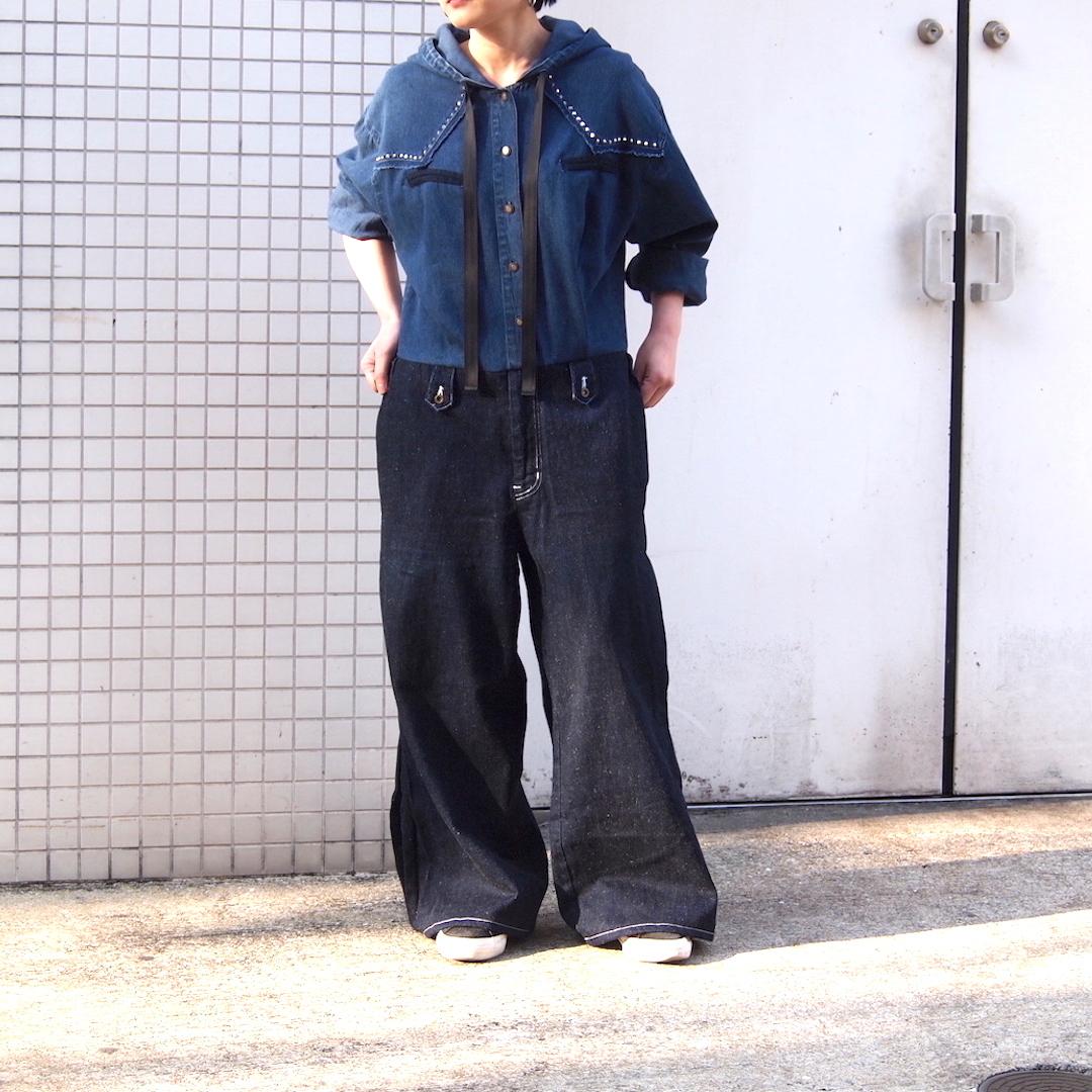 【sandglass】denim jumpsuit / 【サンドグラス】デニム ジャンプ スーツ