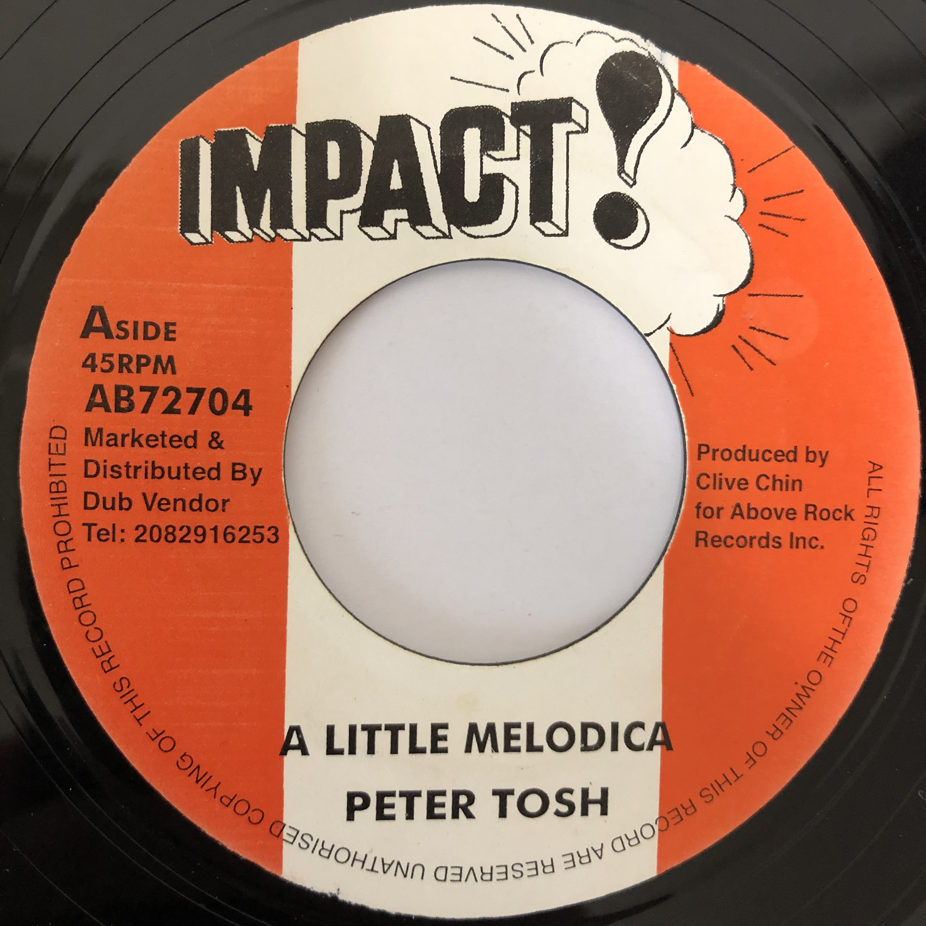 Peter Tosh(ピータートッシュ) - A Little Melodica【7-20233】