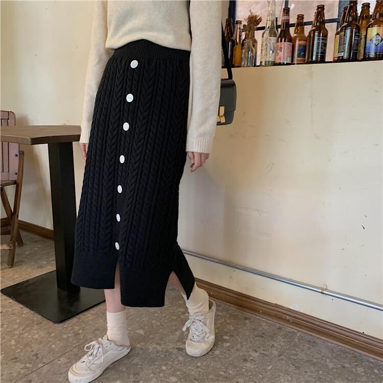 ニットロングスカート