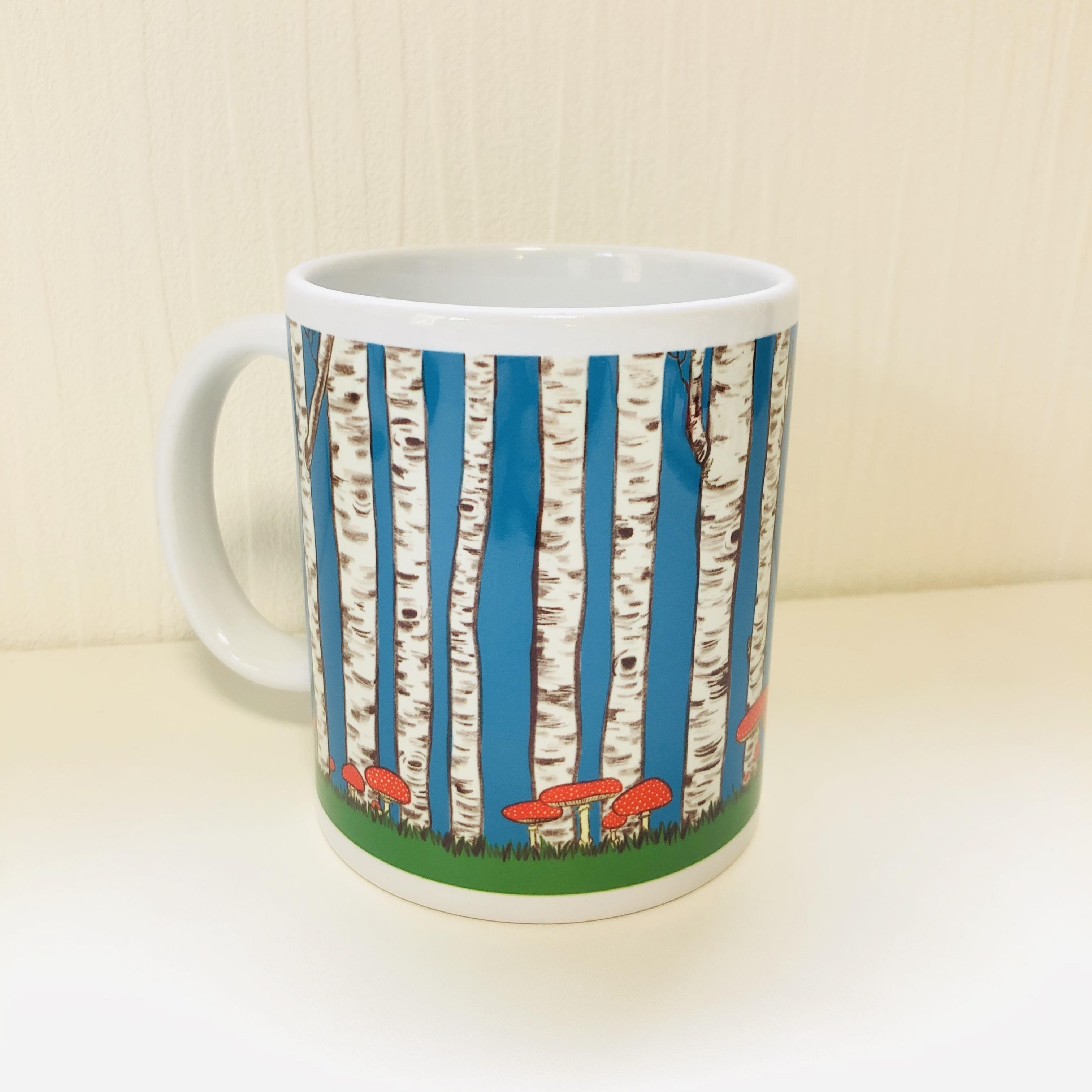マグカップ『白樺の森』(青)受注生産・送料込