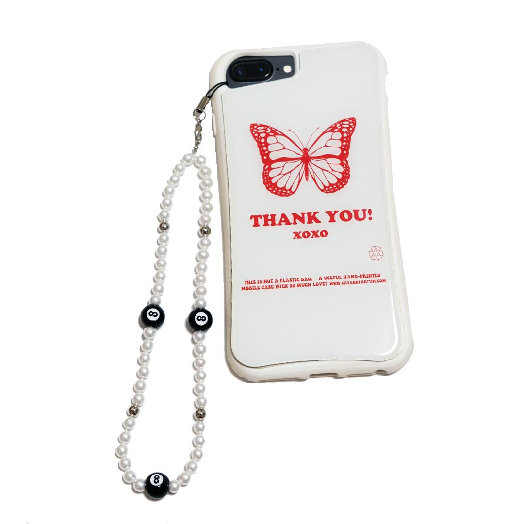 【Cat & Parfum】Eight Ball Beads Phone Charm