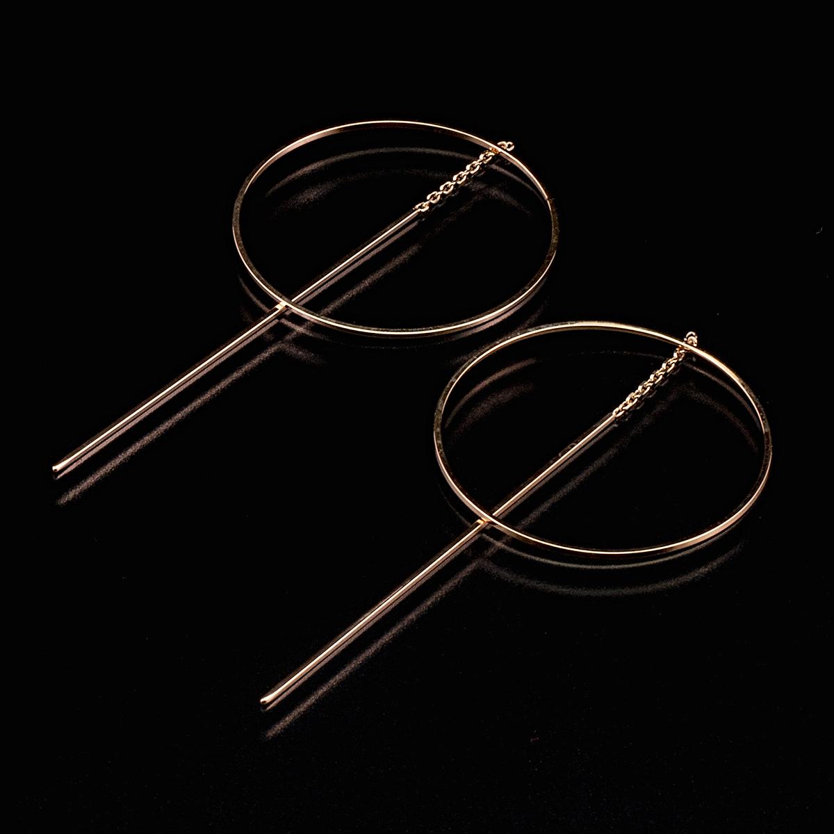 Pendulum pierced earrings / Circle