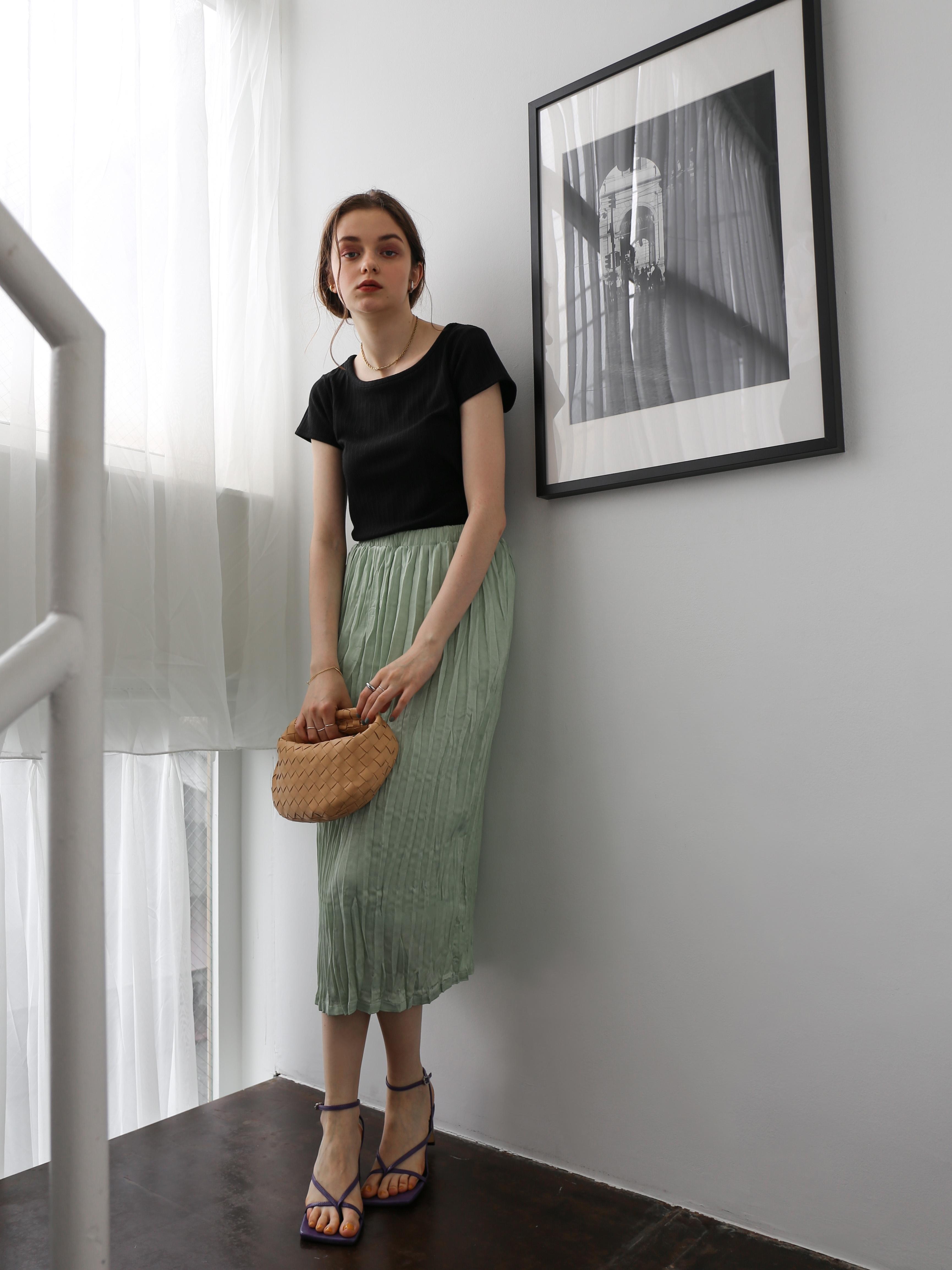 washer I line skirt(mint)