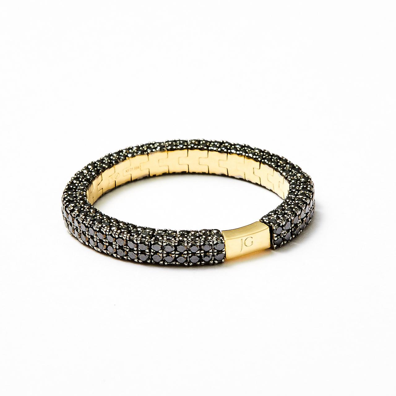 JG <W>リング K9/ブラックダイヤモンド