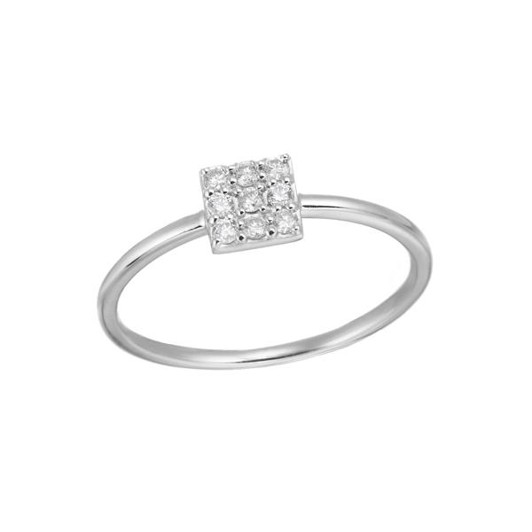 K18WGダイヤモンドリング 010201009177