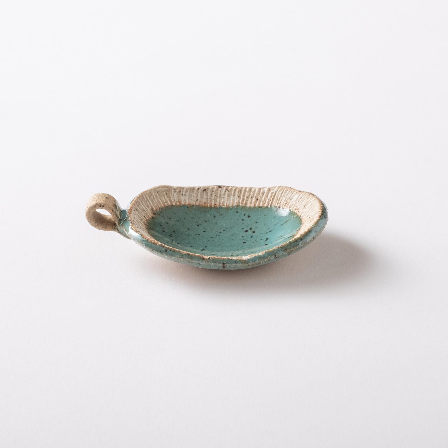 【美濃焼】かわいい豆皿「窯ぐれ 青均窯 豆皿」
