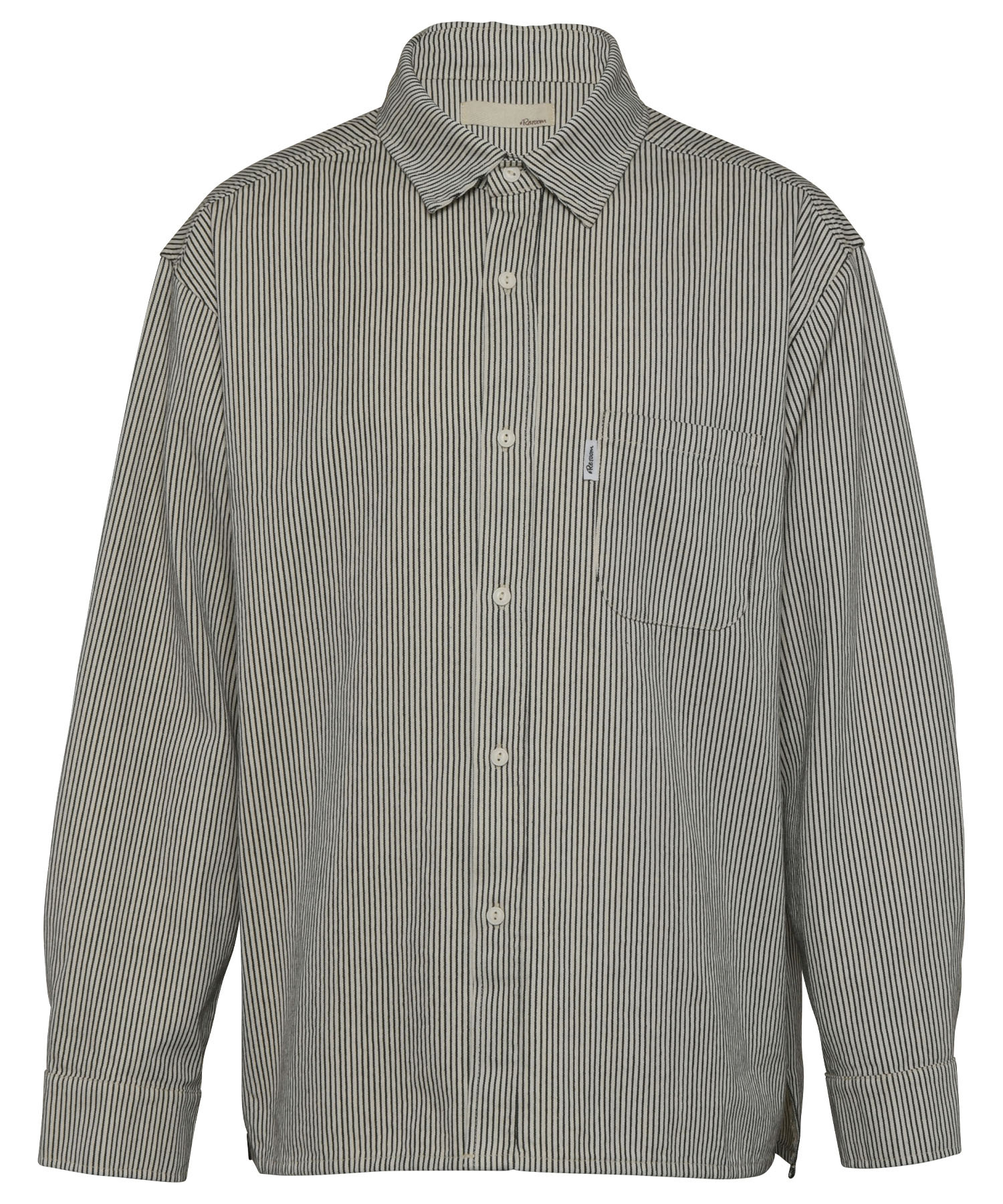 VINTAGE HICKORY COLOR BIG SHIRTS[RES062]