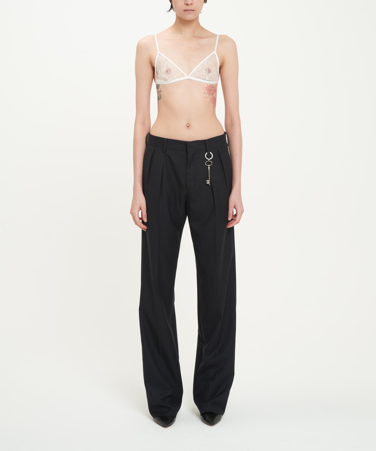 Black Marble Pinstripe PORTRAIT Trousers
