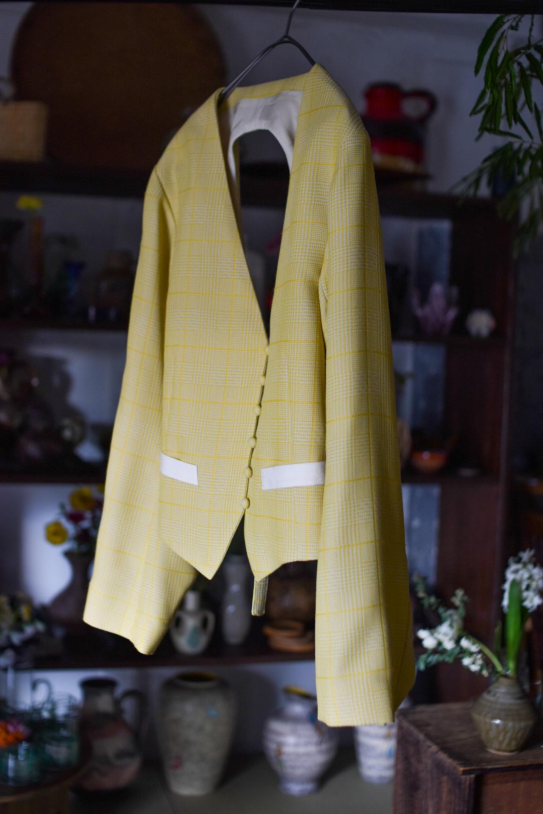 AKIRAFURUKAWA cutting vest yellow