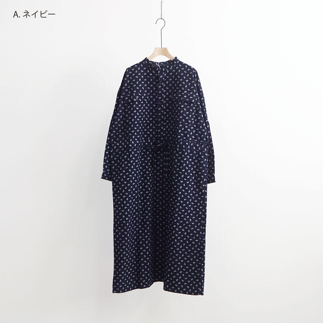 ichi イチ ペイズリーバンドカラーワンピース (品番200724)