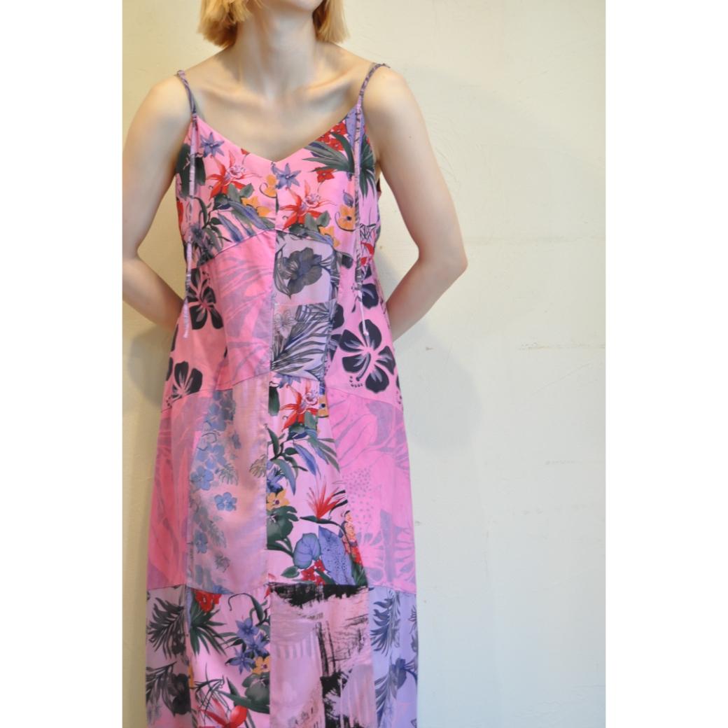 【RehersalL】 aloha camisole dress(pink 4) /【リハーズオール】アロハキャミドレス(ピンク4)