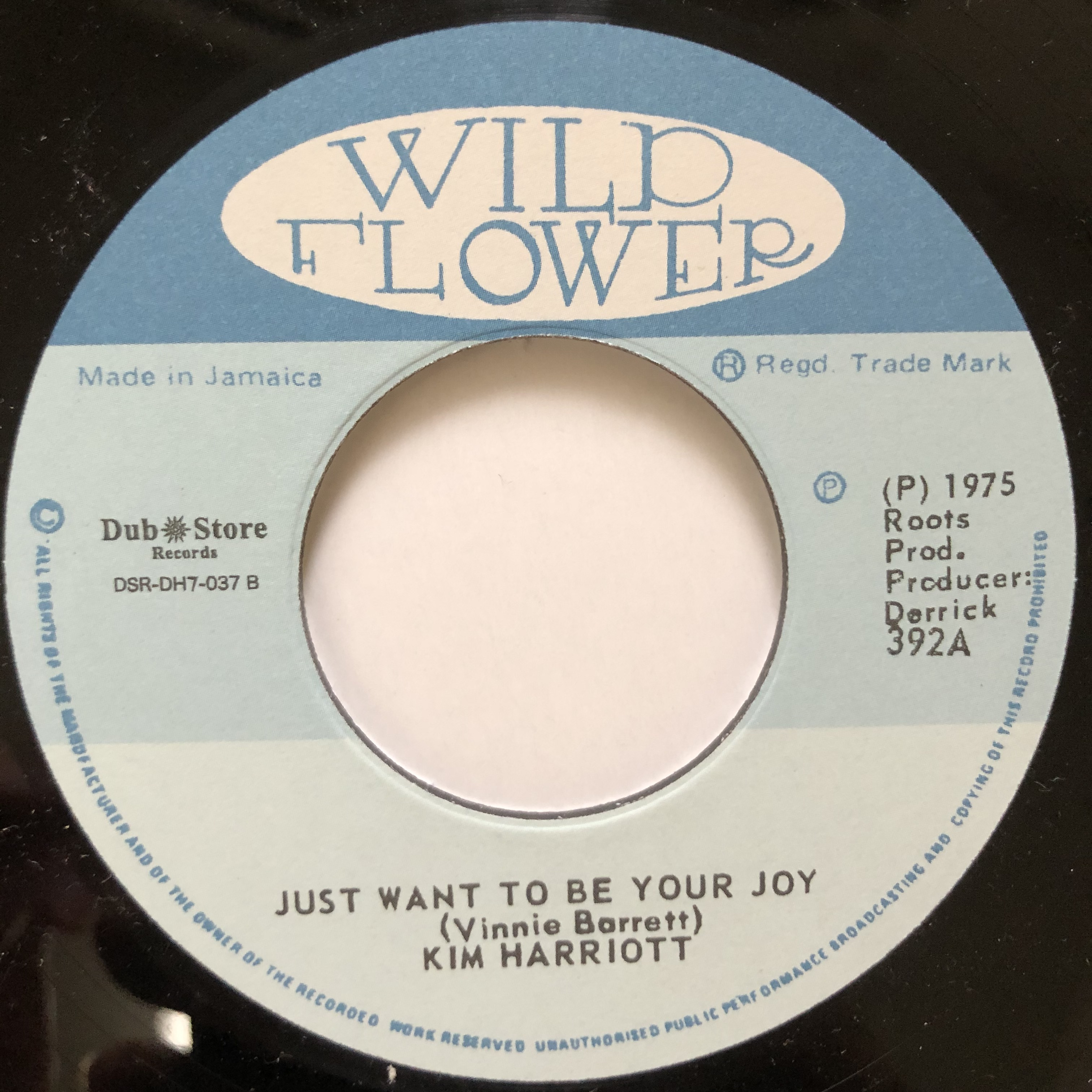 Kim Harriott - Just Want To Be Your Joy【7-20541】