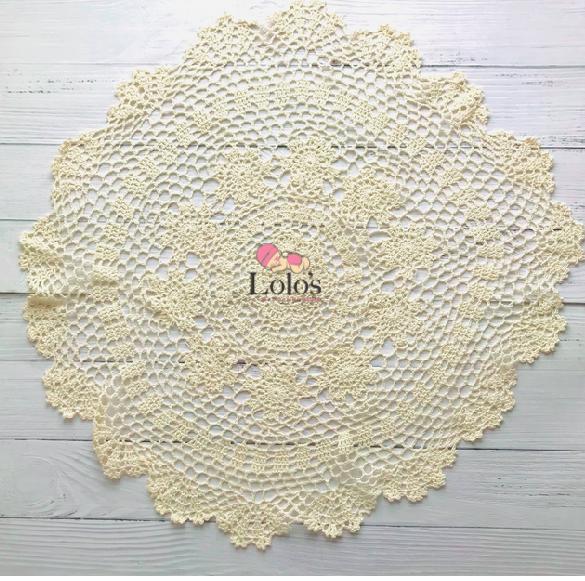 ハンドメイド♡お花のクローシュ編みレース55cm