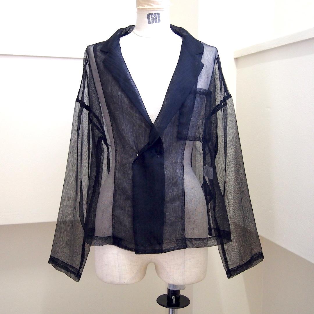 【RehersalL】mesh short coat (black)/【リハーズオール】メッシュ ショートコート(black)