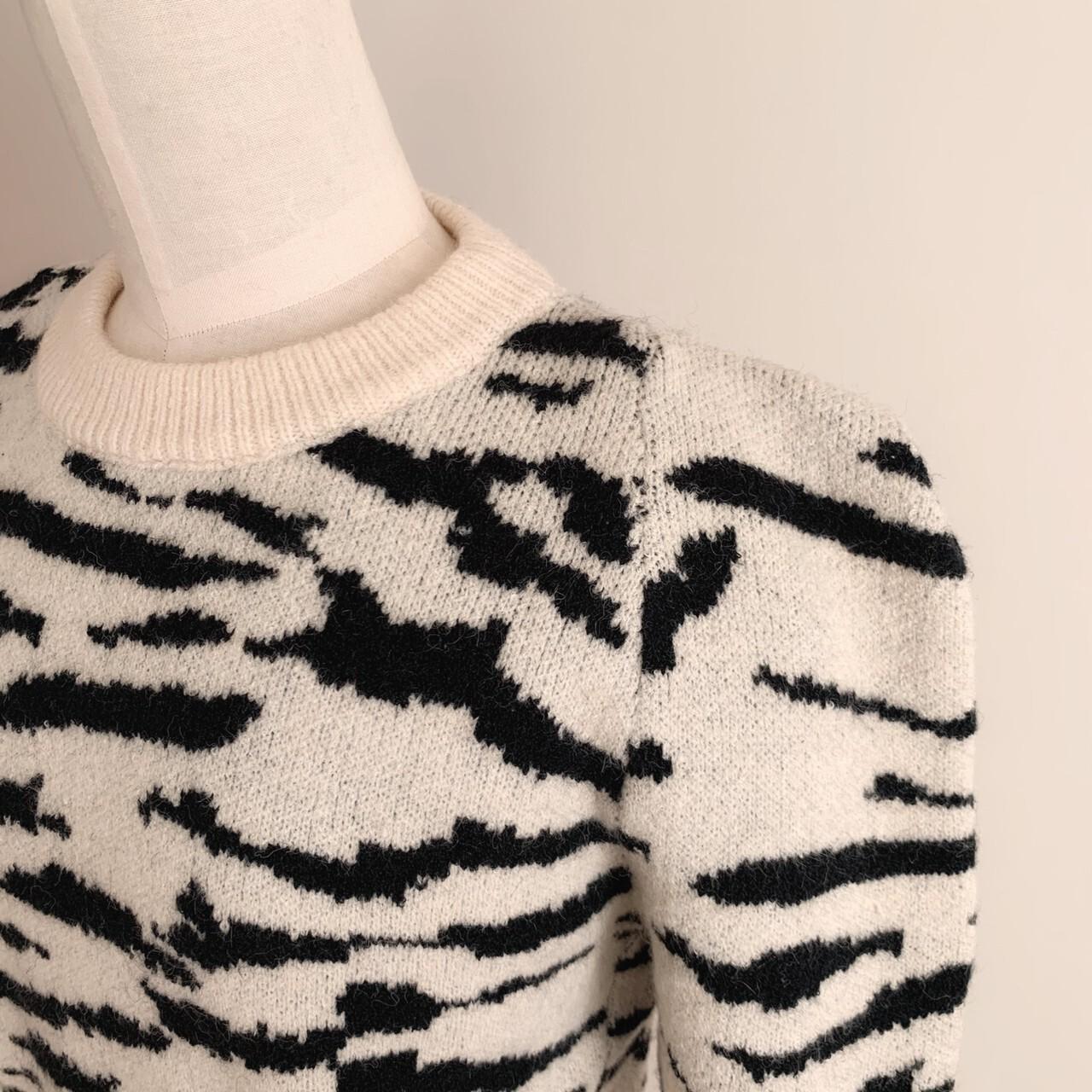 【meltie】zebra puff knit