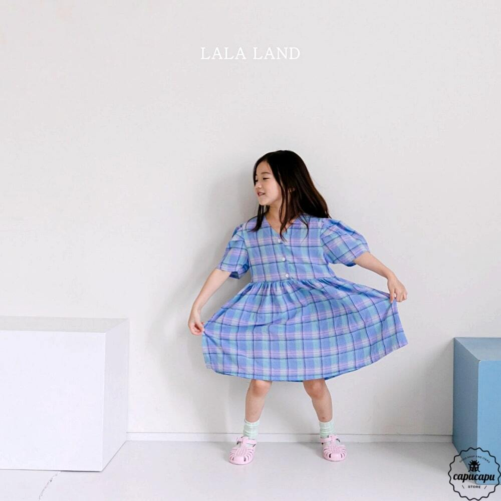 «sold out» LALA LAND check one piece チェックワンピース