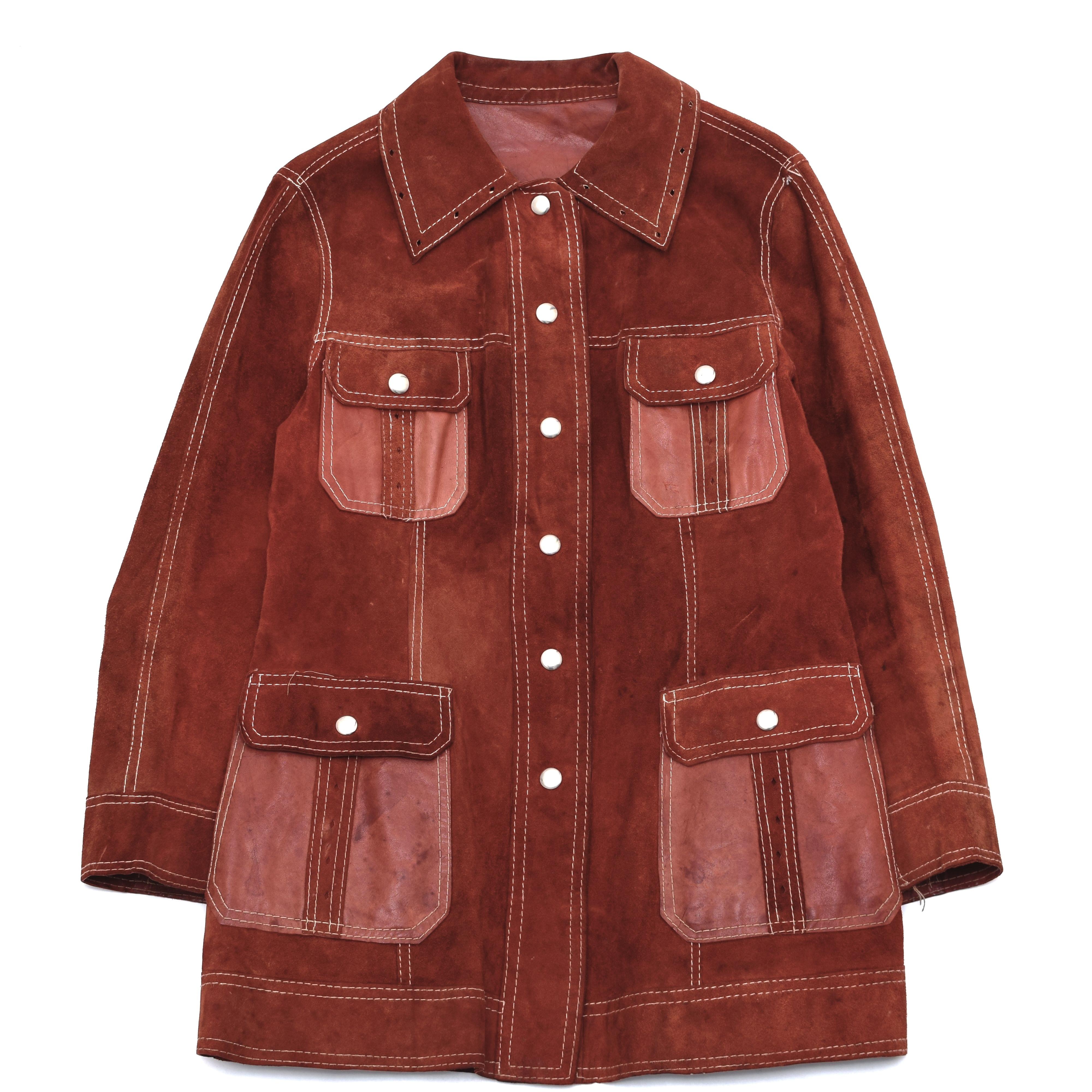 Vintage reversible leather jacket