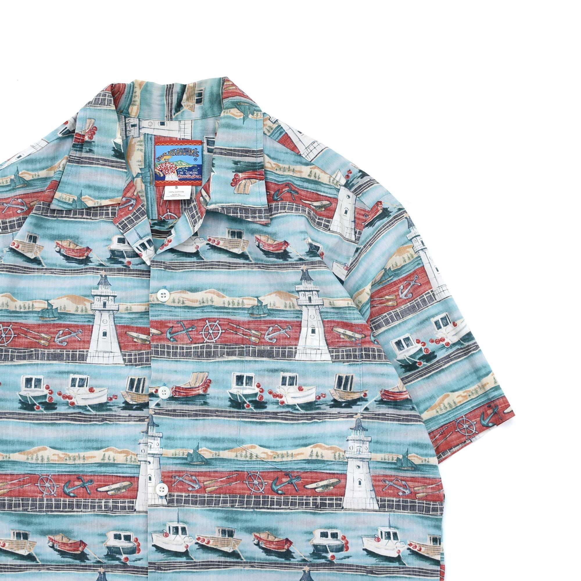 JOE KEALOHA'S by ReynSpoonar hawaian shirt Made in Hawaii