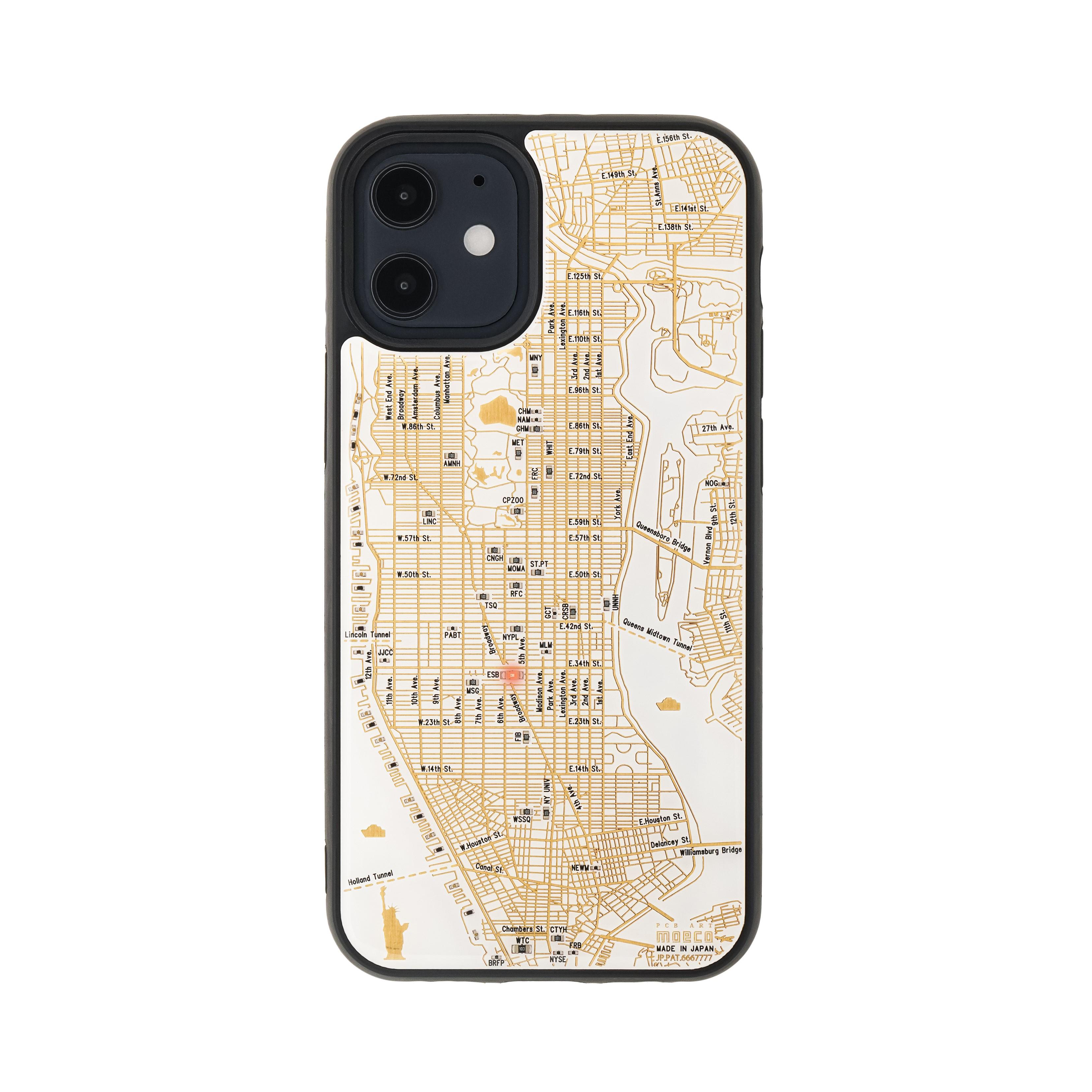 FLASH NY回路地図 iPhone 12 mini ケース  白【東京回路線図A5クリアファイルをプレゼント】