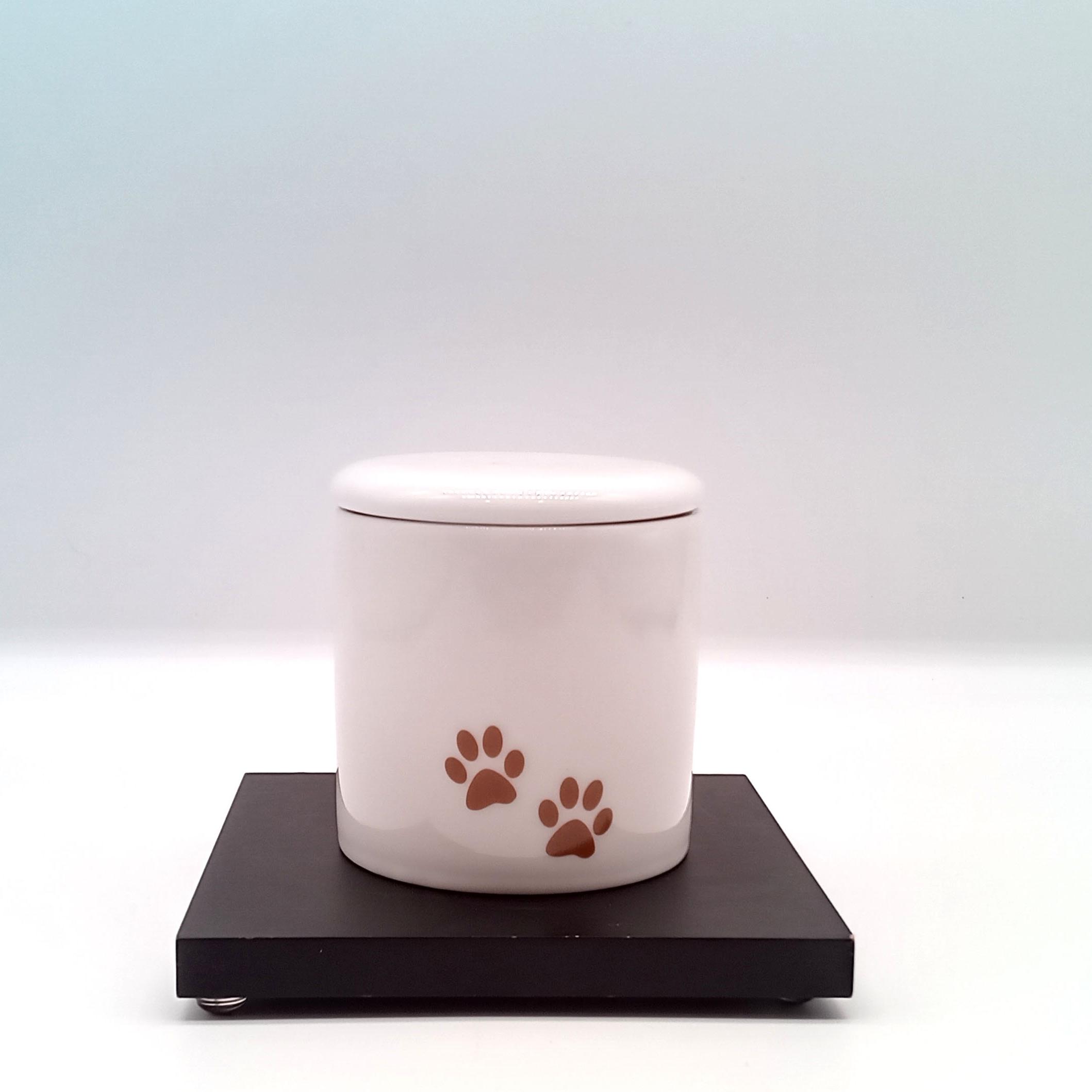 足あとミニ骨壺 【選べる3色】小動物サイズ・分骨サイズ  2寸