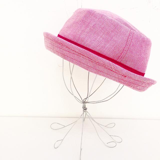 【LuLu de chapeau×solmu】ポークパイハット(ピンク)