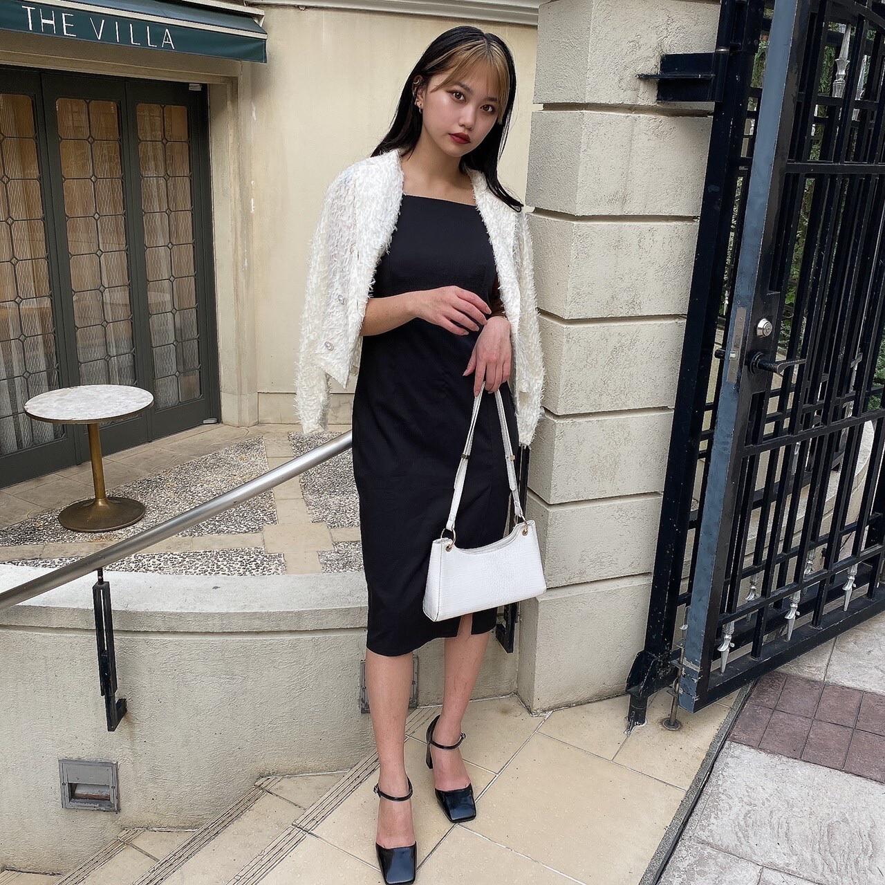 【Belle】LAST3 pearl button blouse / ivory