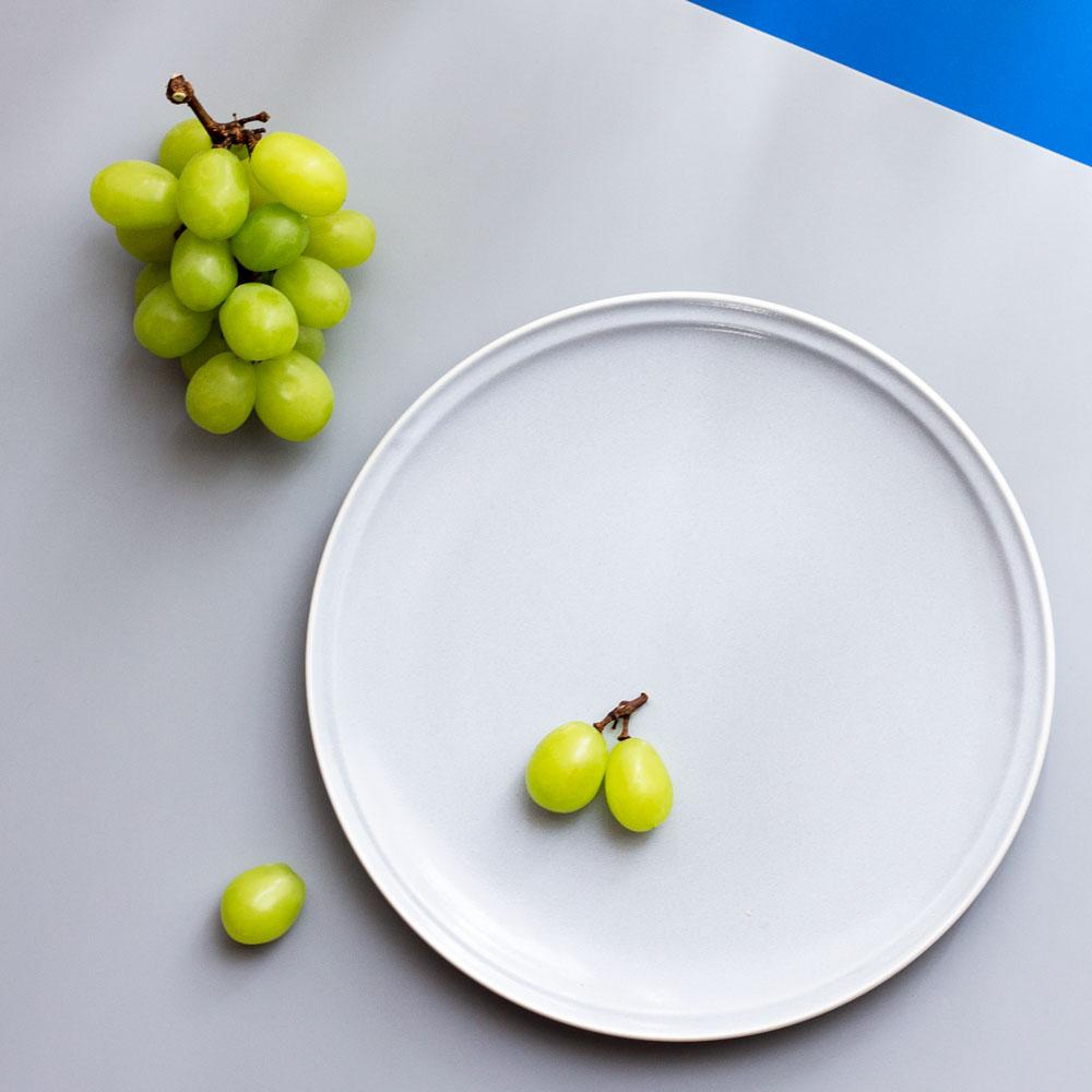 「シエル Ciel」きほんのうつわ カフェプレート 大皿 23cm ライトグレー 美濃焼 520106