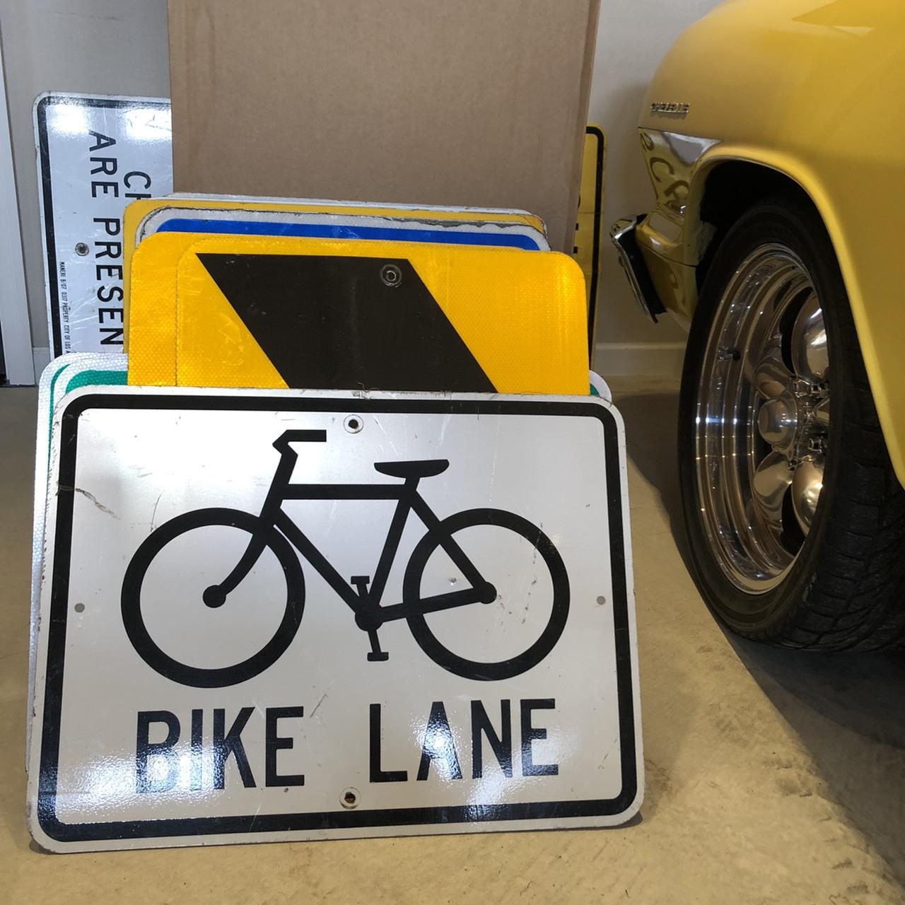 BIKE LANE 1 アメリカンロードサイン トラフィックサイン 道路標識