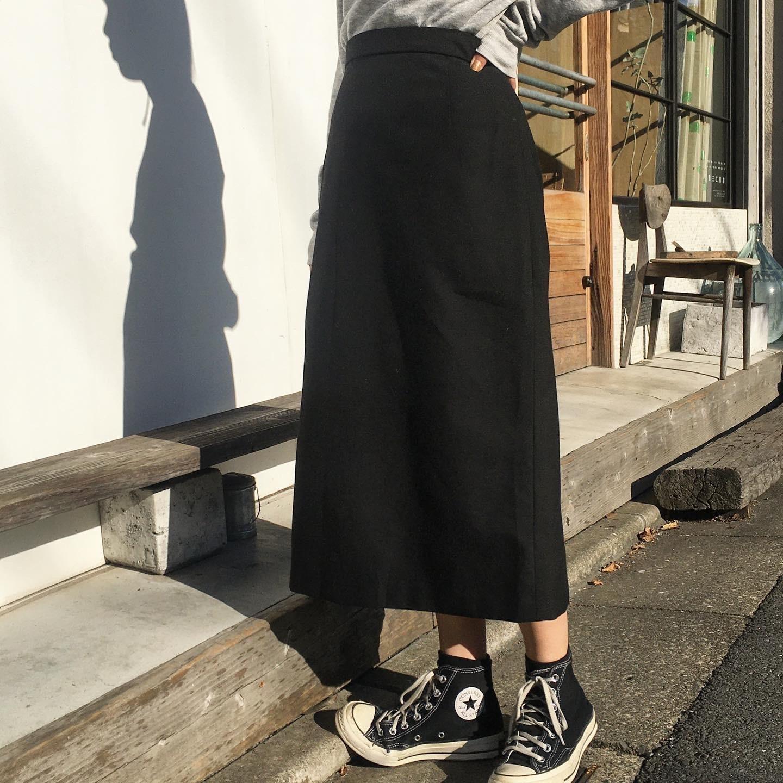 """USED """" Wool Black tight skirt """""""
