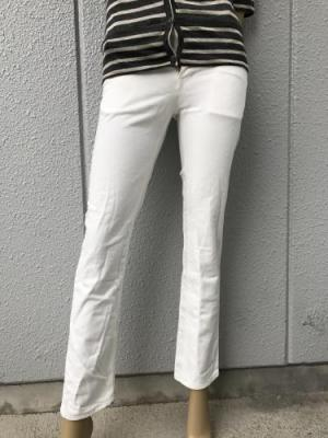 【ONEWASH】ストレッチホワイトパンツ(スリム)