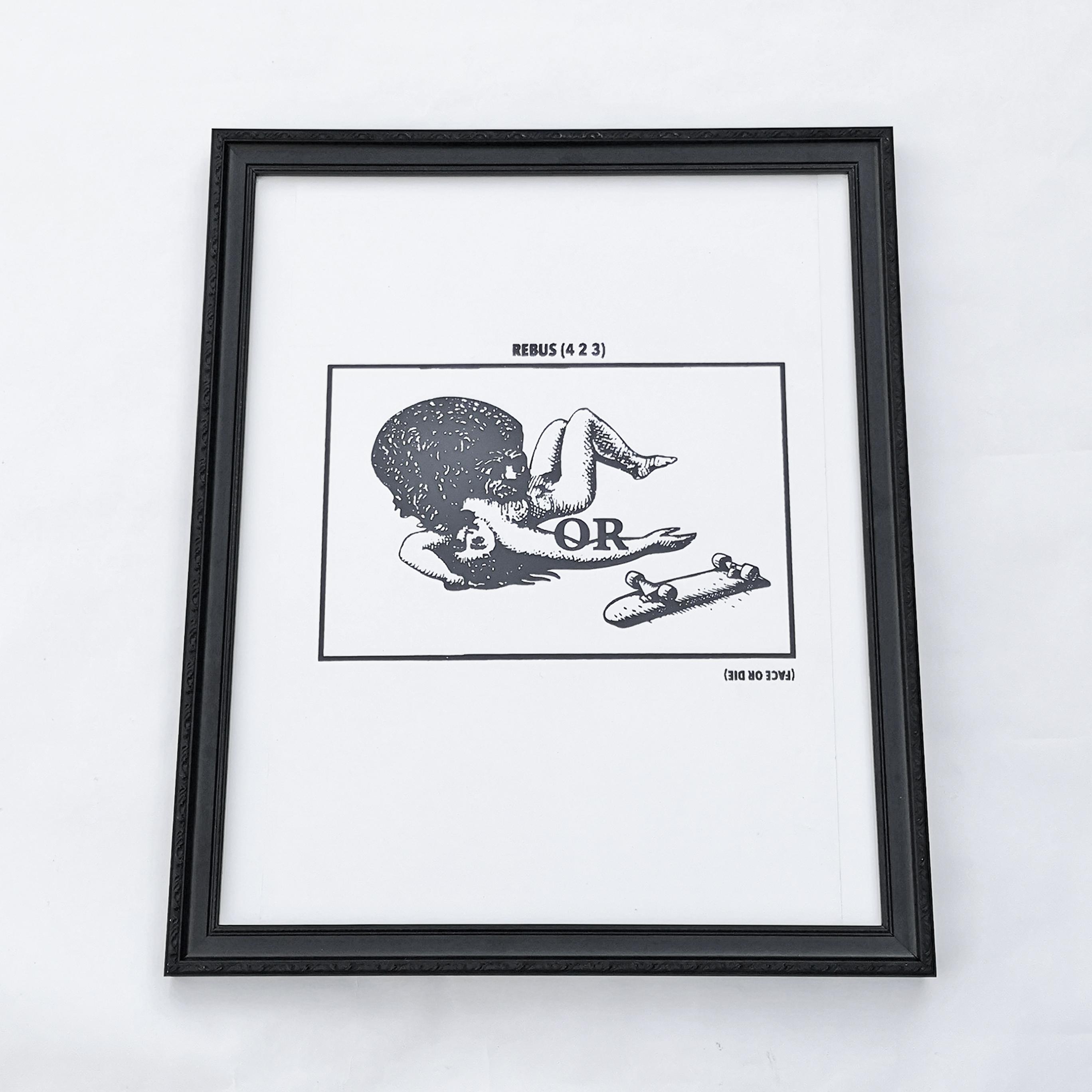 """FACE OR DIE"" SILKSCREEN POSTER Artwork by FACE"