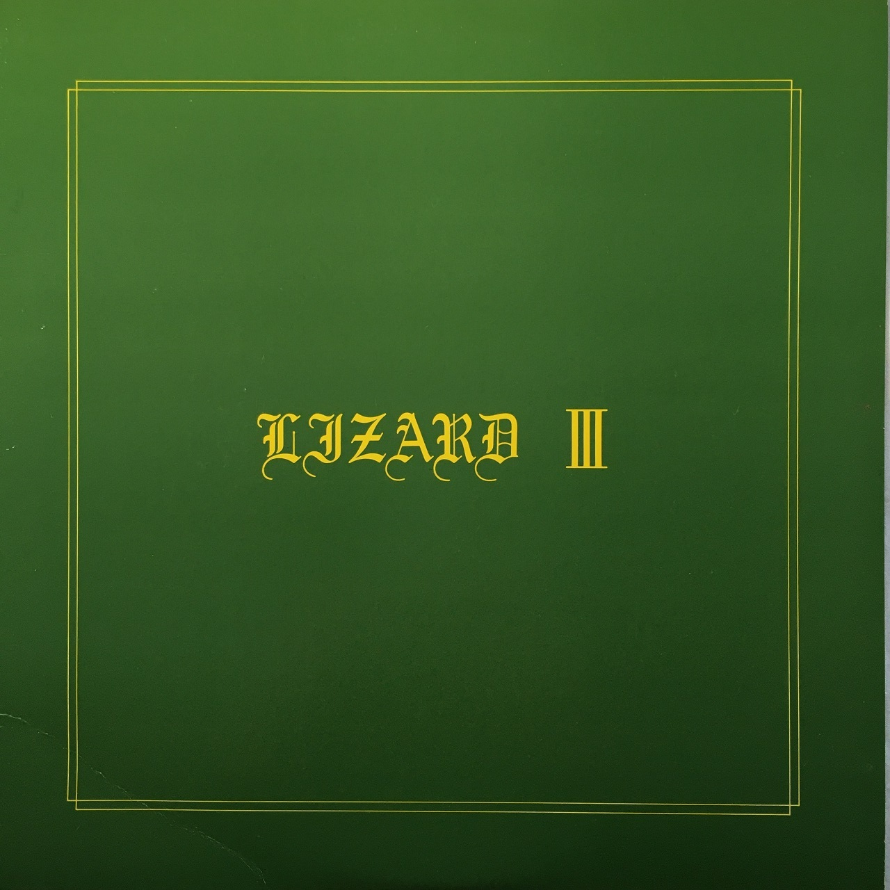 【12inch・国内盤】リザード / Lizard Ⅲ