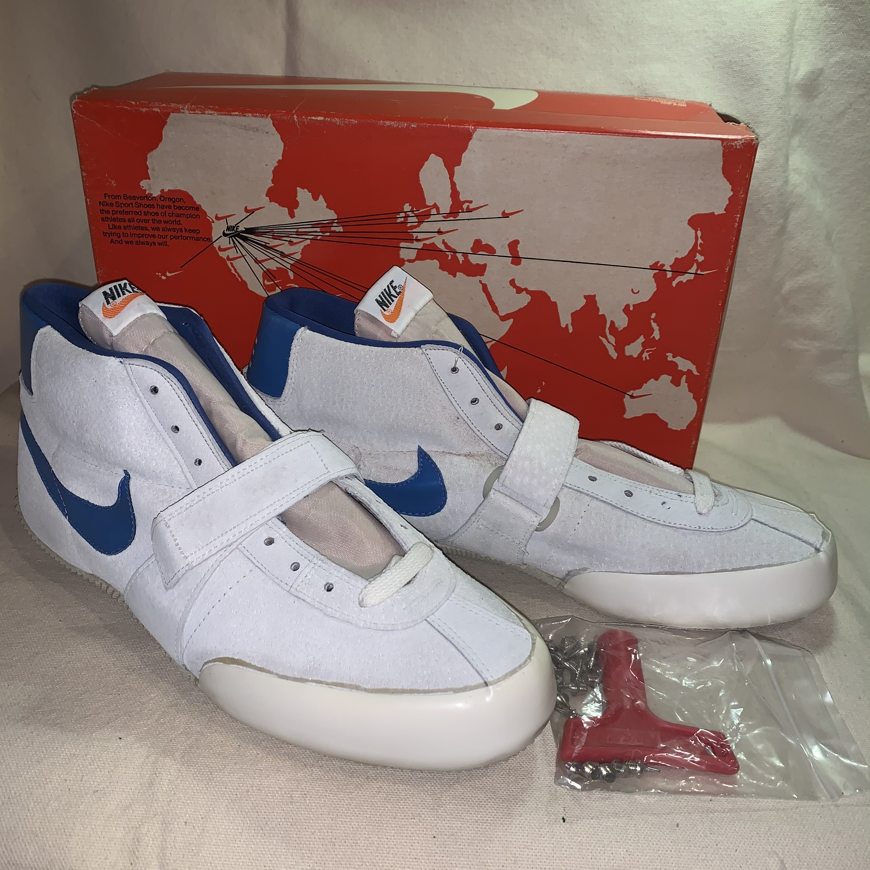 70's NIKE JAVALIN  US12.5 競技用/スパイク Made in USA  Dead Stock / オレンジタブ/縦ナイキ