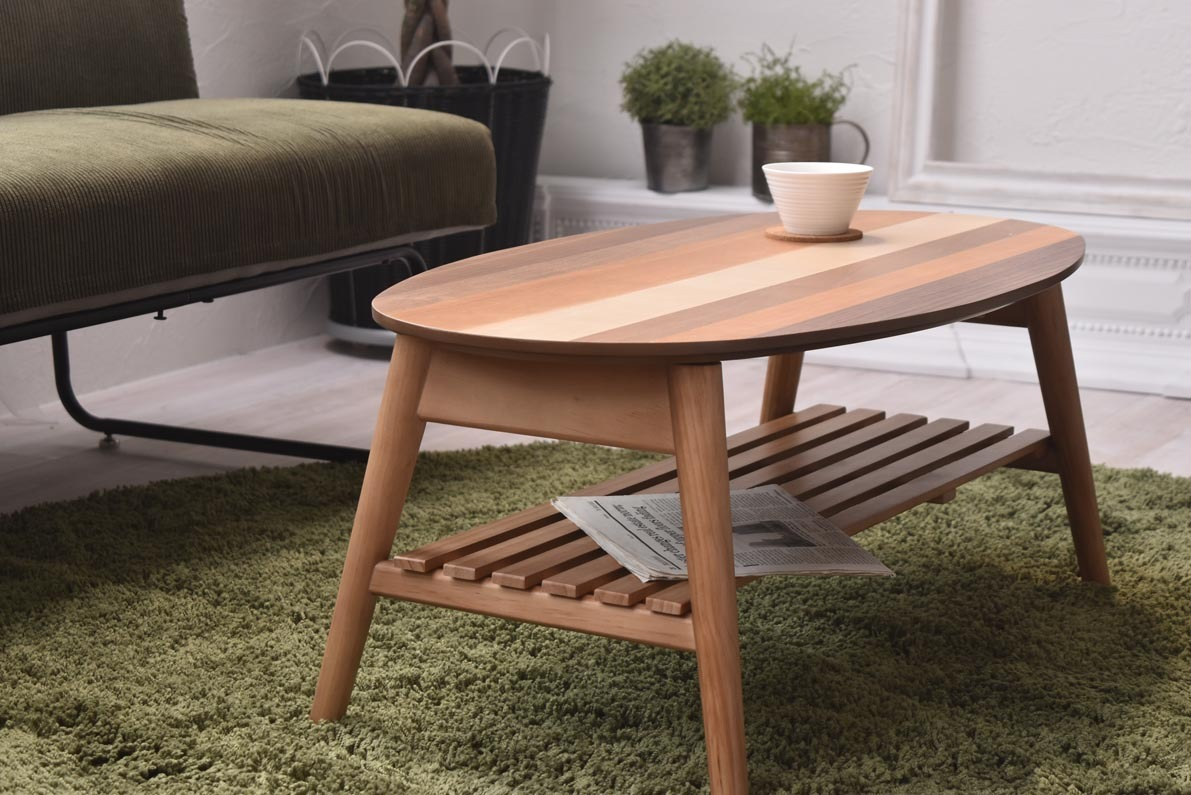 Oval / Nordic Low Table W88 / 北欧ナチュラルスタイル オーバル / 北欧 ローテーブル W88