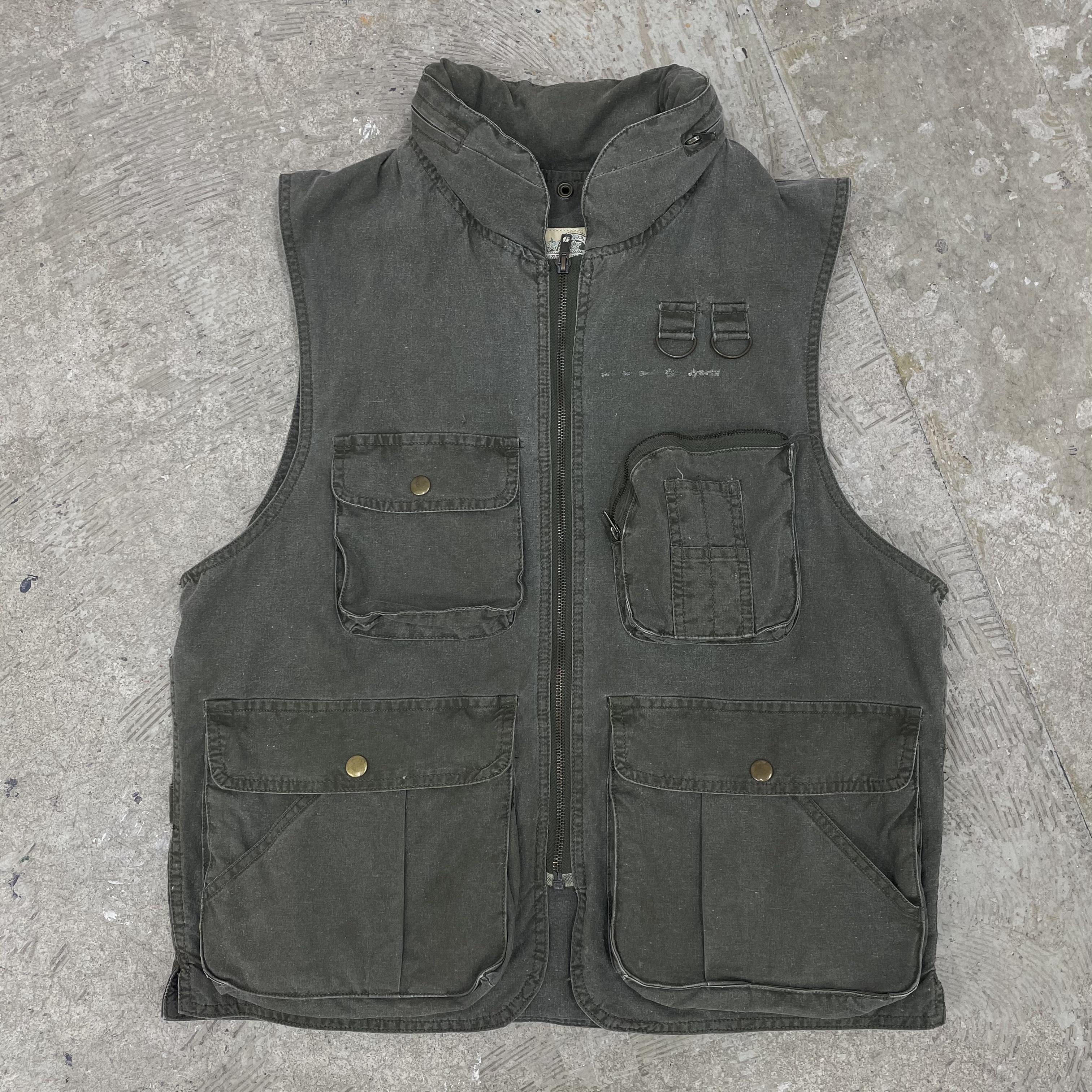 80's Multi Pocket Vest / Size S