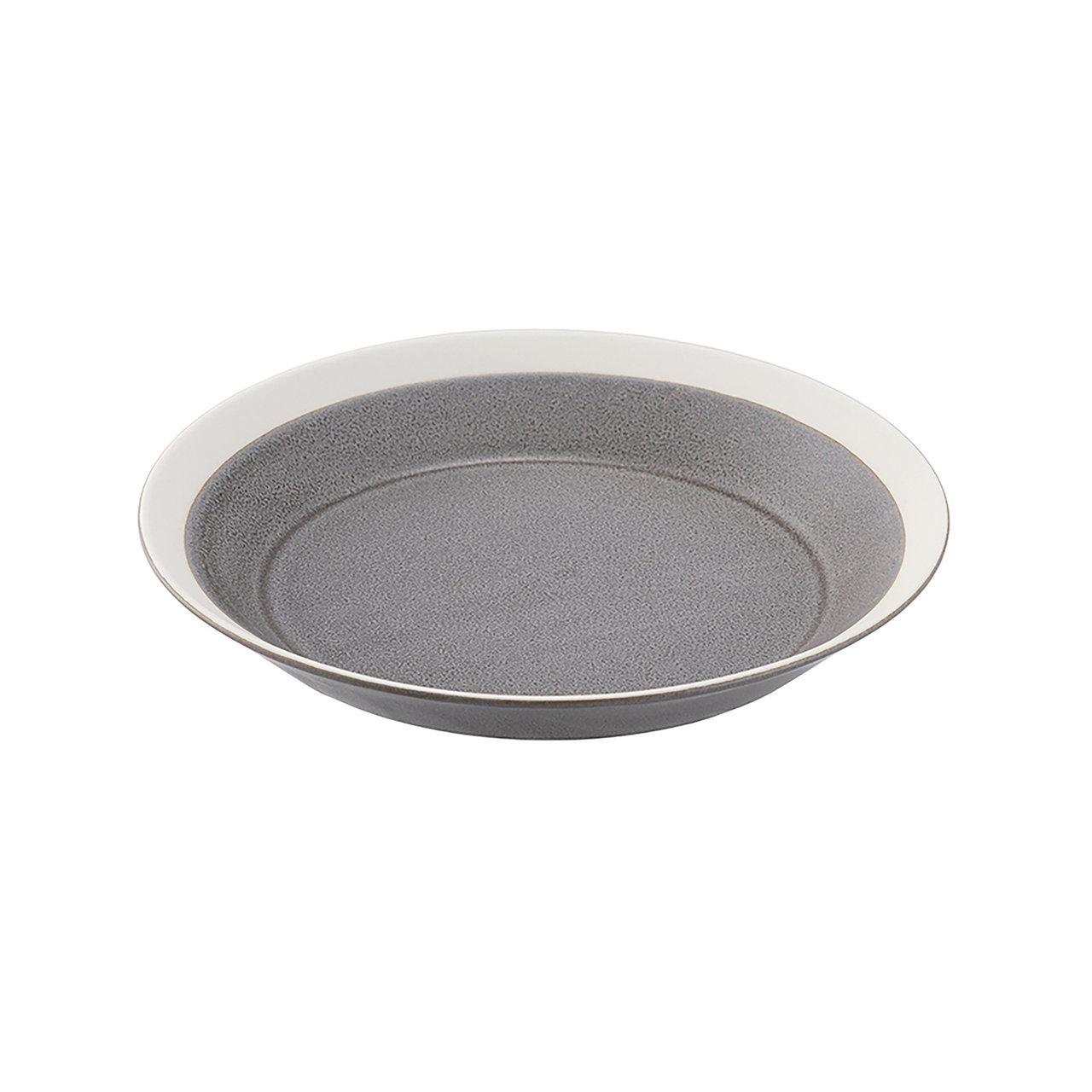 yumiko iihoshi porcelain(ユミコイイホシポーセリン)×木村硝子店 dishes 180 plate (moss gray) /matte  プレート 皿 18cm 日本製 255275