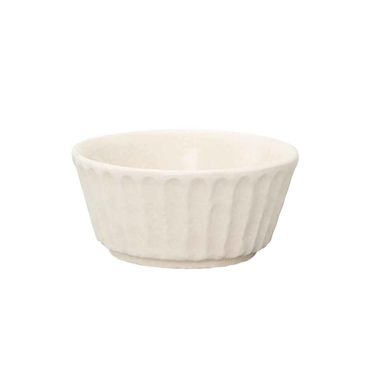 瀬戸焼 伍春窯 そぎ SOGI 小鉢 皿 約9cm 白 127-0409