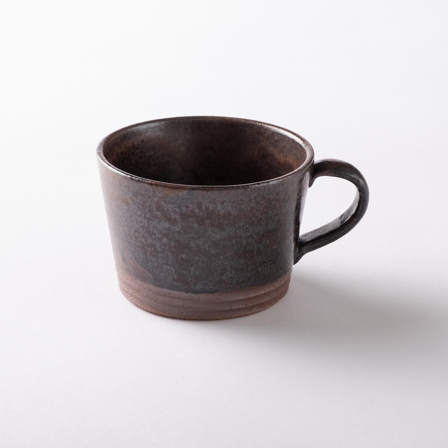 【瀬戸焼】たっぷりスープカップ「ショコラブラウン スープマグ」