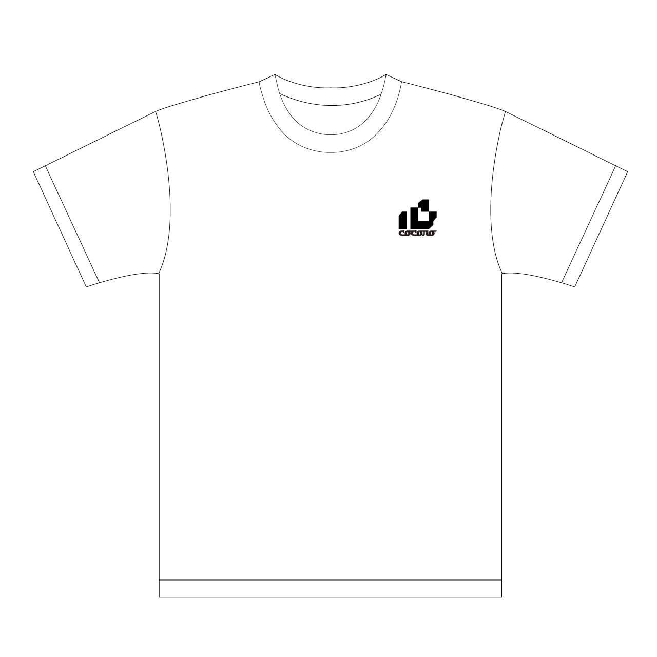 おはようございます×ピノキオピー×あらいやかしこ「心」Tシャツ(ホワイト) - 画像1