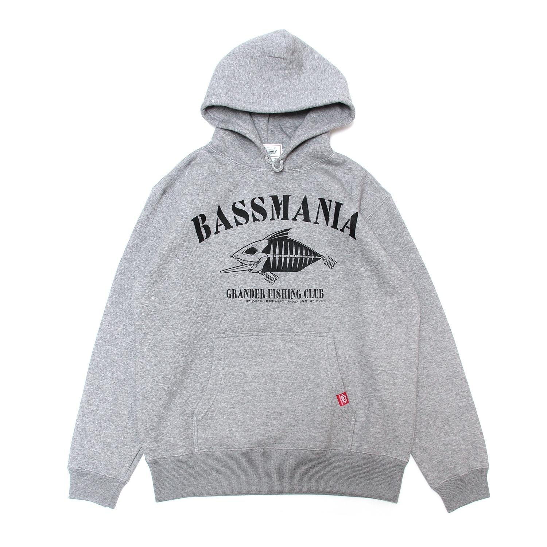 【グランダー武蔵×bassmania】スケルトンデザインスウェットパーカー [GRY]【限定生産】