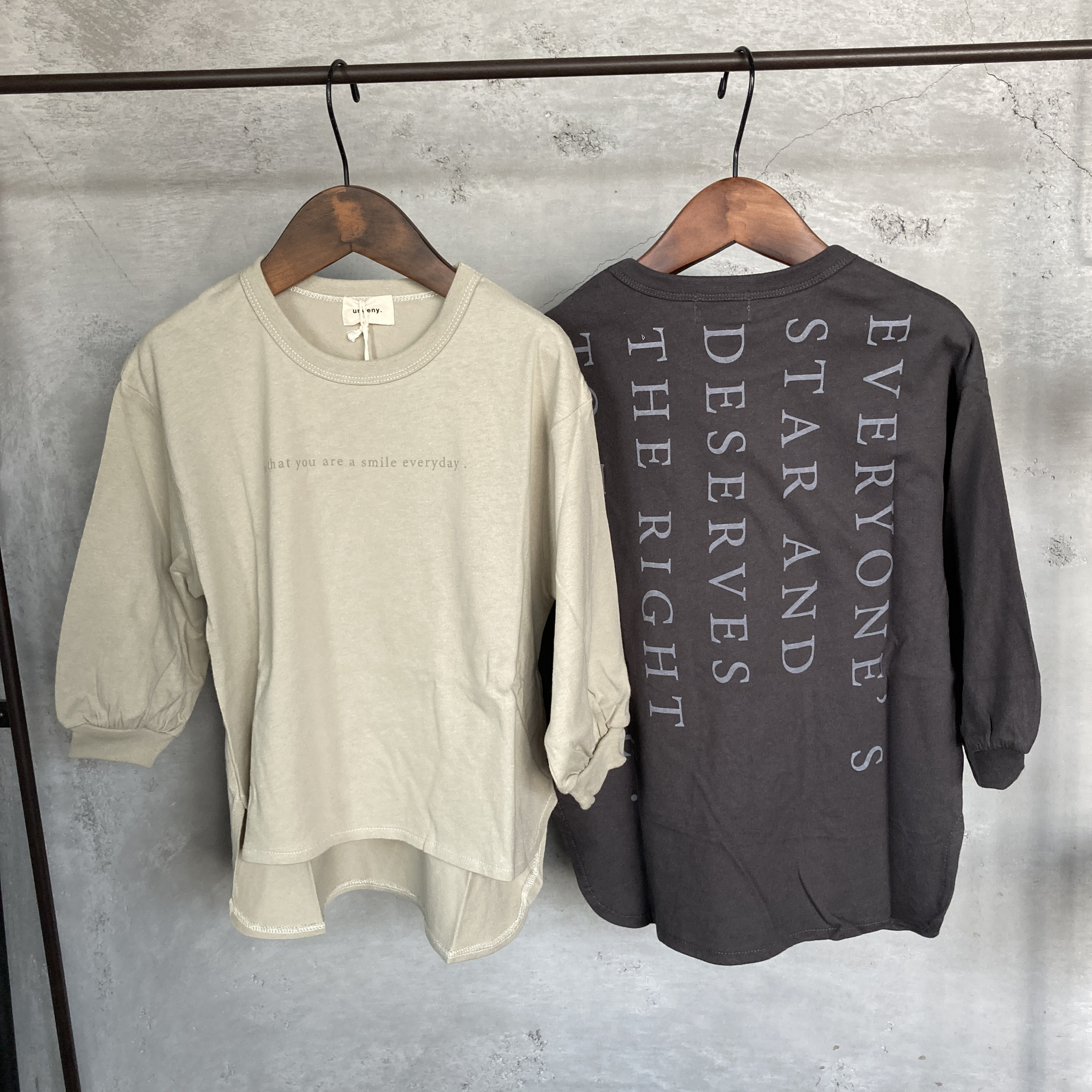 UNDENY. ロゴサイドスリットロングTシャツ キッズ 711401