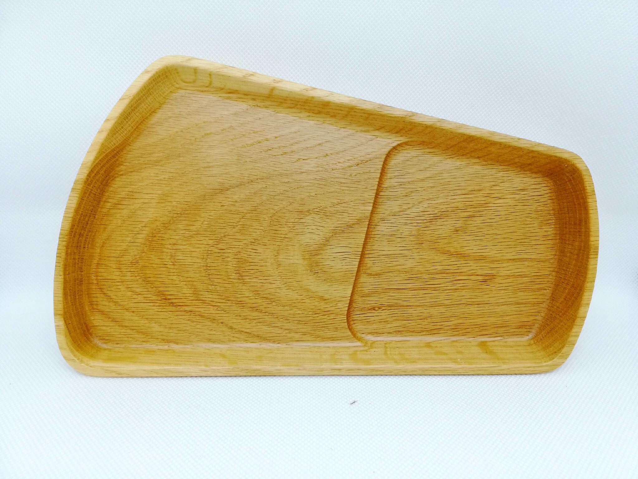 雫木プレート-ナラ(余り木材×トレー)