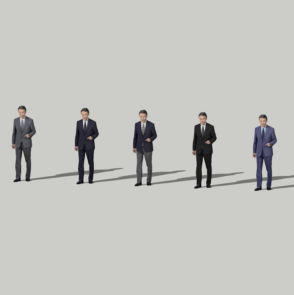 SketchUp素材 3D人物モデル ( Posed ) 045_Ken - 画像2