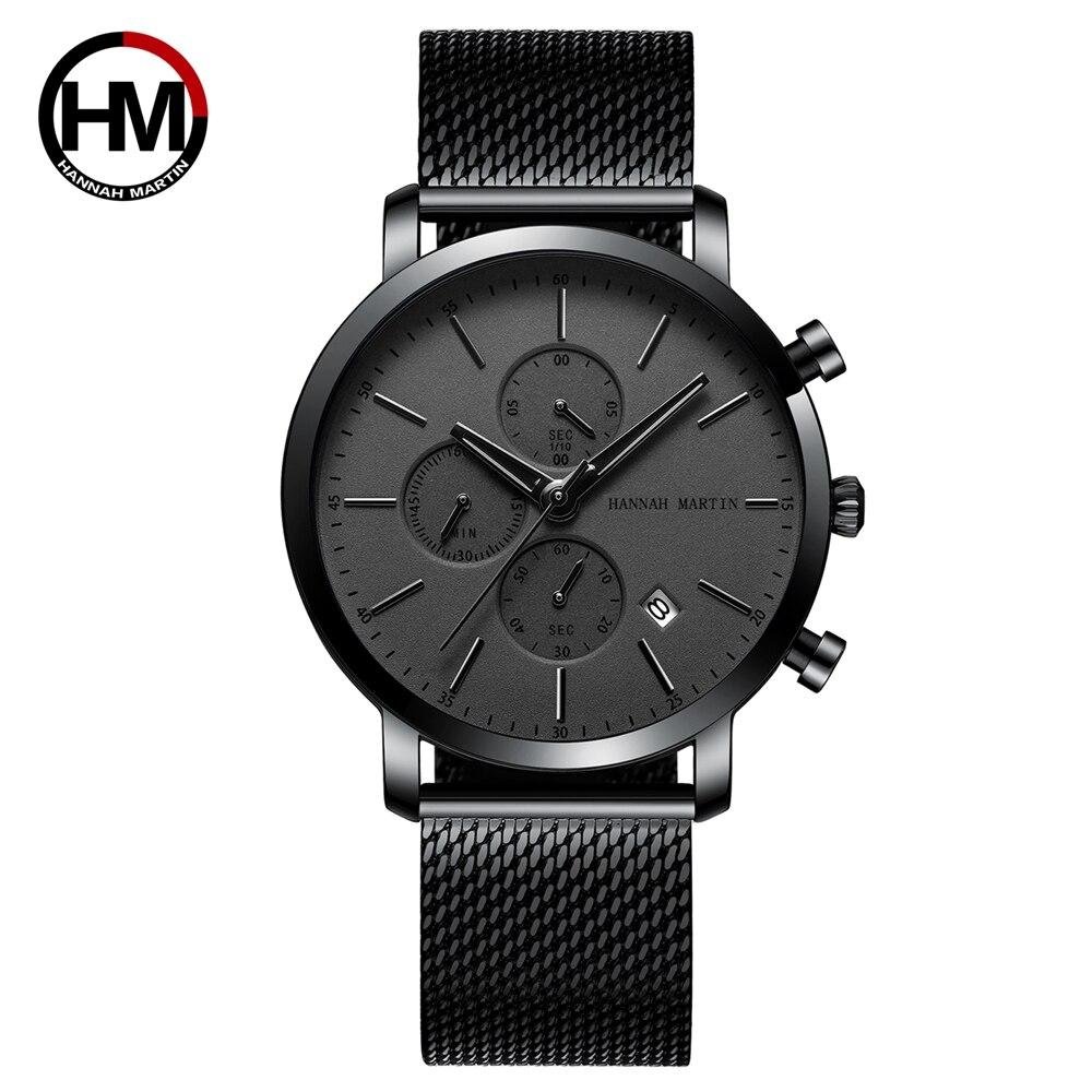 メンズウォッチトップブランドファッション多機能スモールダイヤルステンレススチールメッシュビジネス防水腕時計109H-WHH